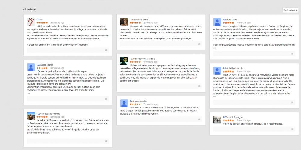 Google + 12,035 vues, et de beaux commentaires… Merci!!